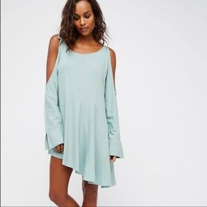 Free People Clear Skies Cold Shoulder Tunic Mint